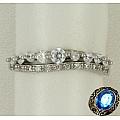 Серебряное кольцо с дорожкой цирконов