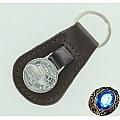Брелок для ключей автомобиля (серебро, кожа)
