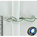 Серебряное украшение на руку с цирконами