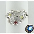 Серебряное кольцо с кварцами и фианитами