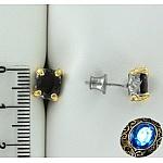 Серебряные серьги с гранатами