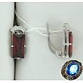 Серебряные серьги с кварцем и фианитами