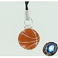 """Серебряная подвеска на мобильный телефон """"Баскетбольный мяч"""""""