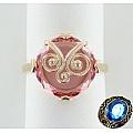 Серебряное кольцо с ситаллом