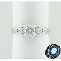 Золотое кольцо с кристаллами Сваровски