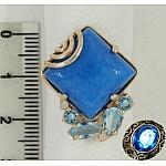 Серебряное кольцо с агатом и алпанитами