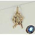 Подвеска «Знак зодиака Близнецы» из красного золота