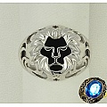 Кольцо-печатка со львом