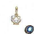 Подвеска знак зодиака из золота с жемчугом «Водолей»