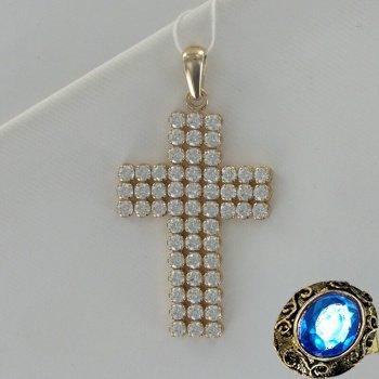 Золотая подвеска с кристаллами Сваровски