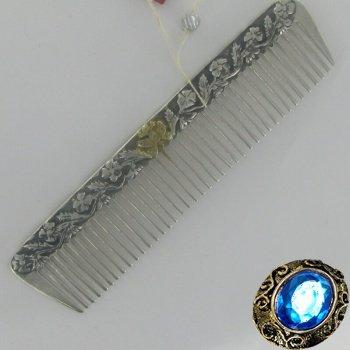 Детская серебряная расческа