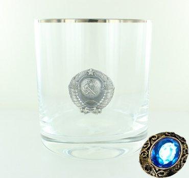 """Подарочный стакан для виски """"Герб СССР"""", 300 мл"""